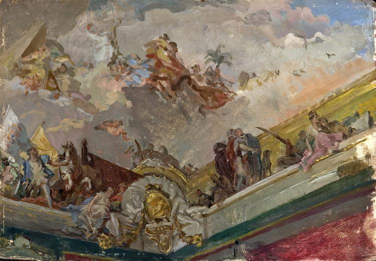 Techo Del Palacio Real - José Santiago Garnelo y Alda