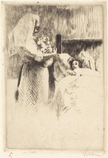 Birth Announcement for Anne-élisabeth Besnard, 1922 - Paul-Albert Besnard