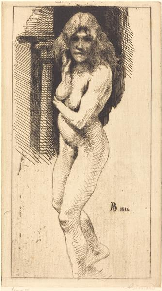 Carmen Standing in the Nude - Paul-Albert Besnard