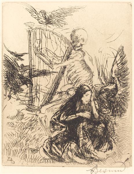 Musician (musicienne), 1900 - Paul-Albert Besnard