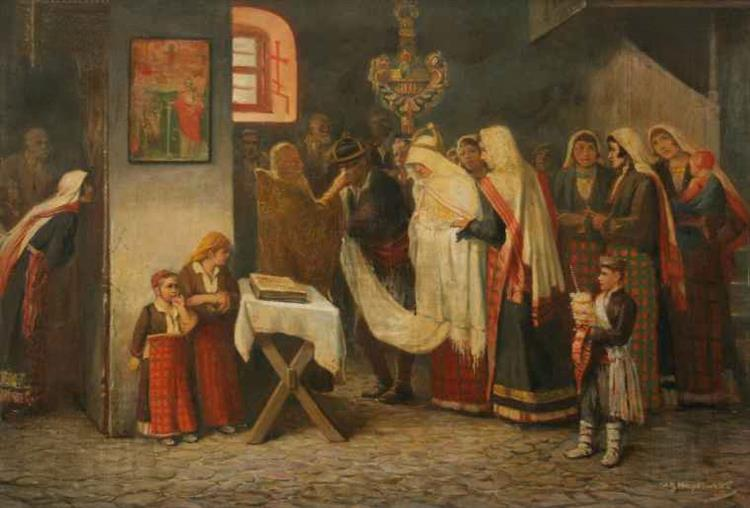 Wedding In Momchilovtsi, 1885 - Ivan Mrkviсka