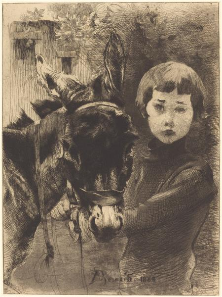 Robert Besnard and His Donkey, 1888 - Paul-Albert Besnard