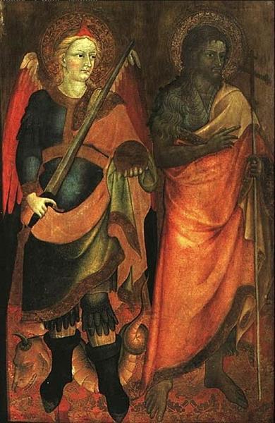 St. Michael and St. John, 1423 - Álvaro Pires de Évora