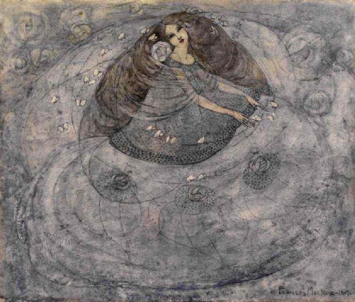 Girl and Butterflies, 1907 - Frances Macdonald MacNair