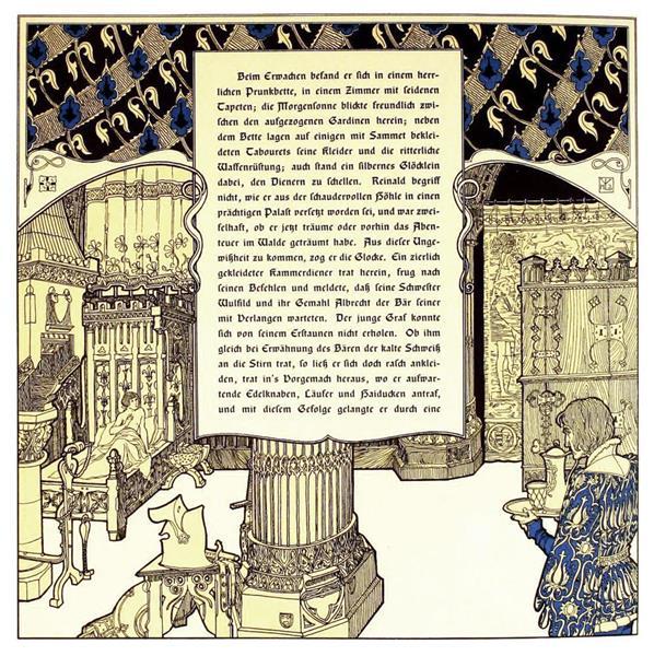 Die Bucher Der Chronika Der Drei Schwestern 7, c.1900 - Heinrich Lefler