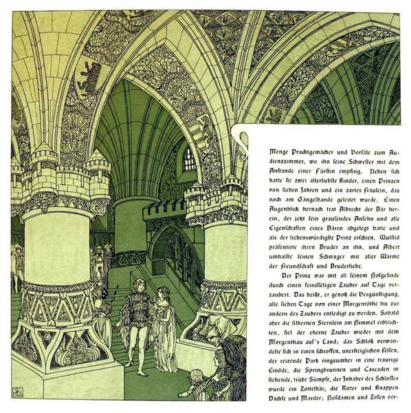 Die Bucher Der Chronika Der Drei Schwestern 9, c.1900 - Heinrich Lefler