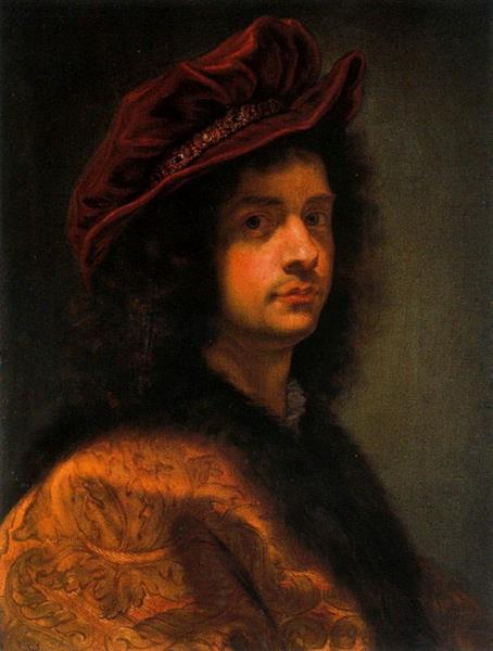 Autorretrato Corredor De Vasari, c.1668 - Giovanni Battista Gaulli