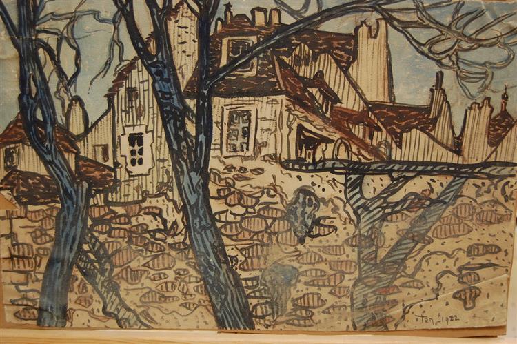 Old Houses, 1920 - Hélène Guinepied