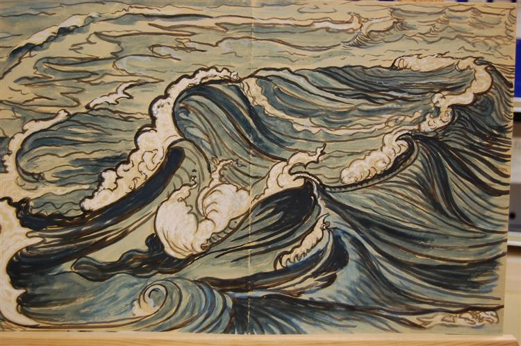 The blue wave, 1930 - Hélène Guinepied