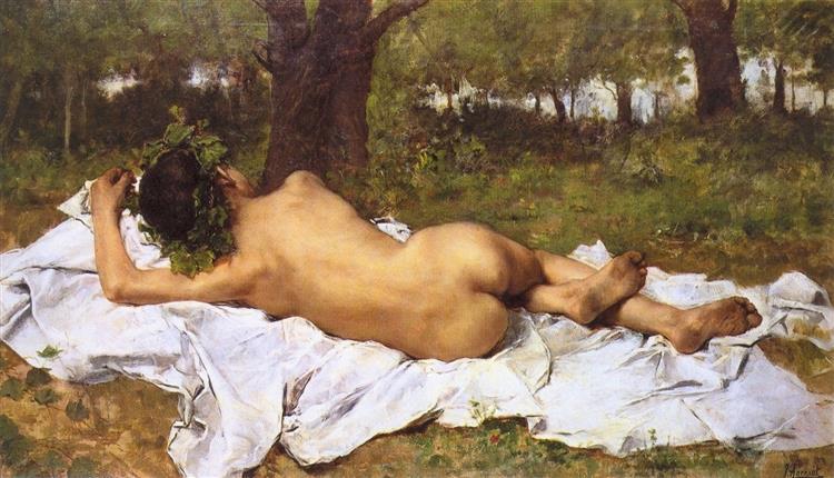 Young Bacchus, c.1872 - Joaquín Agrasot