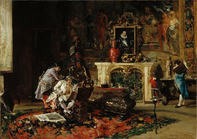 The Print Collector, c.1863 - Marià Fortuny