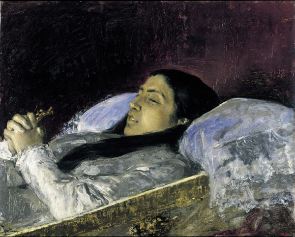 La senyoreta Del Castillo en el seu llit de mort, c.1871 - Marià Fortuny