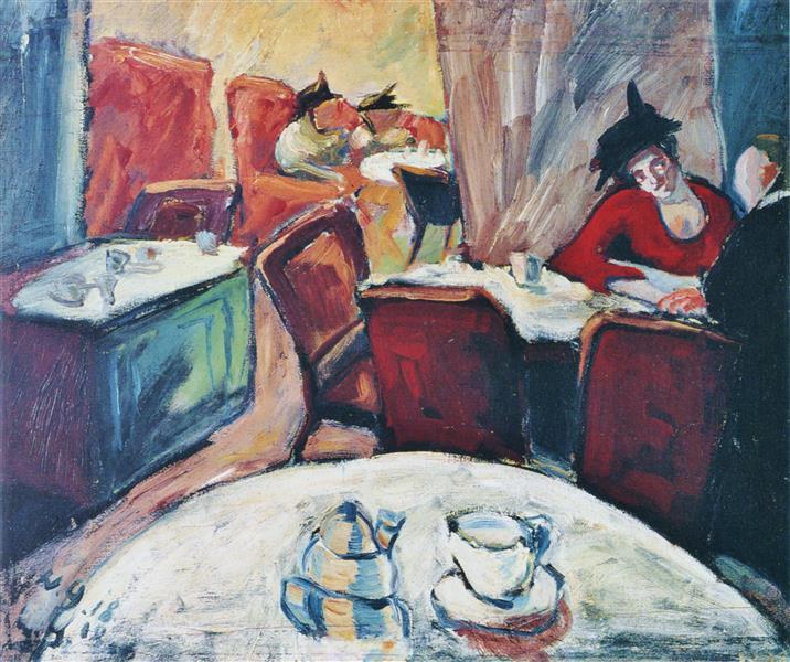 Café, 1918 - Walter Gramatté
