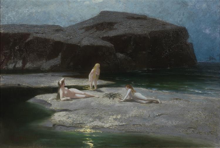 Mondnacht Am Meer - Hermann Hendrich