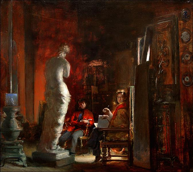 Art Students, c.1983 - Frank Mason