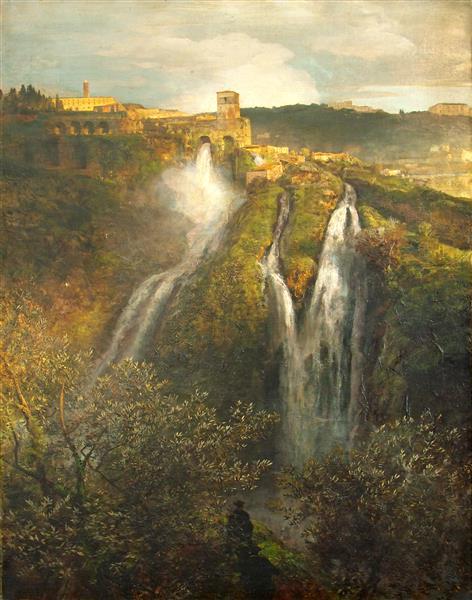 Wasserfälle bei Tivoli - Oswald Achenbach
