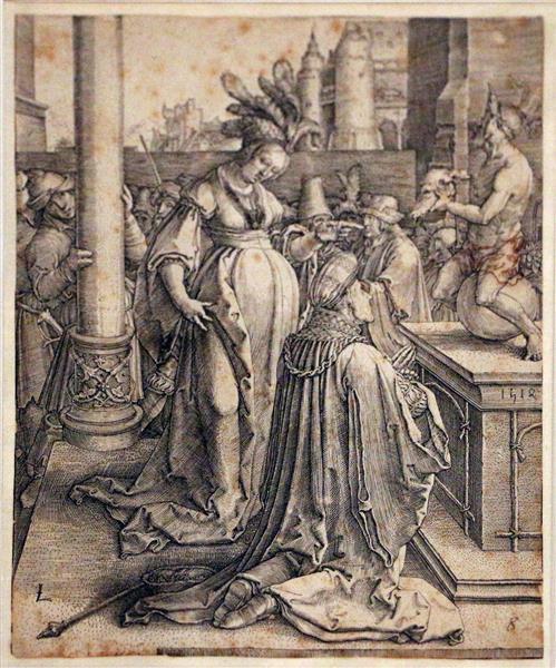 The idolatry of Solomon, 1514 - Lucas van Leyden