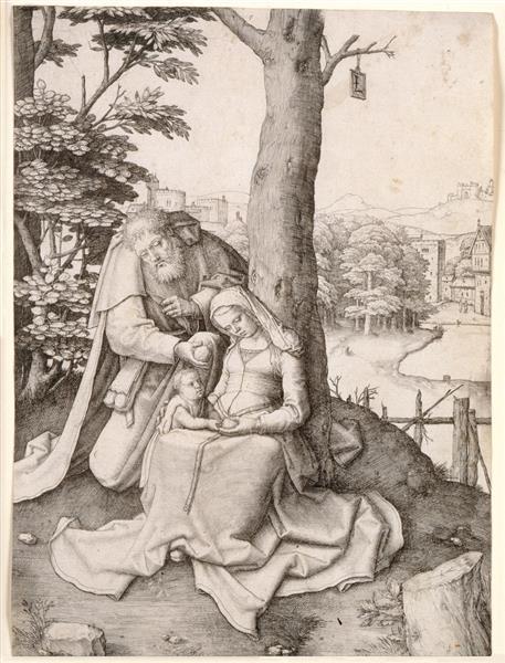 The Holy Family, 1509 - Lucas van Leyden