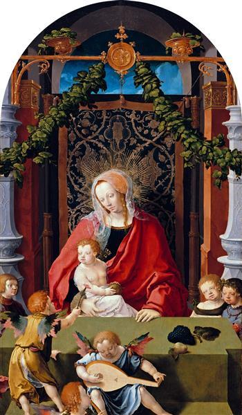 Virgin and Child with Angels, c.1520 - Lucas van Leyden