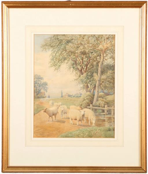 SHEEP IN LANDSCAPE - WILLIAM SIDNEY COOPER