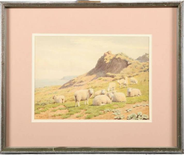 SHEEP ON THE COAST - WILLIAM SIDNEY COOPER