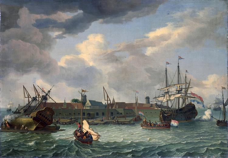 Onrust Island near Batavia, 1699 - Abraham Storck