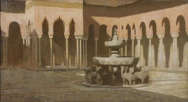 La Cour Des Lions À L'alhambra De Grenade - Achille Zo