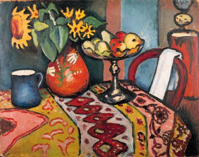 Stilleben Mit Sonnenblumen II, 1911 - August Macke