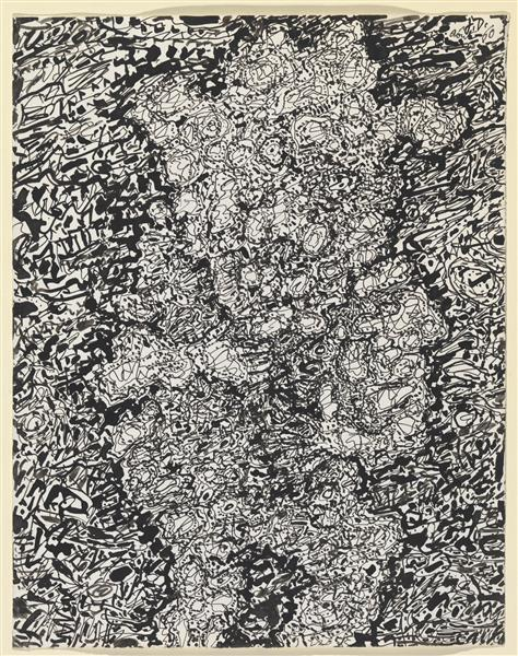 Figure with Hat in a Landscape, 1960 - Jean Dubuffet