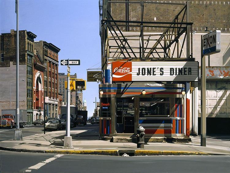 Jone's diner, 1979 - Richard Estes