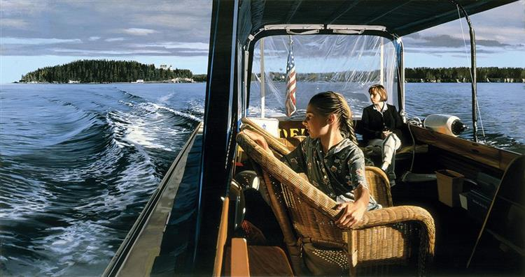 Water Taxi, Mount desert, 1999 - Richard Estes
