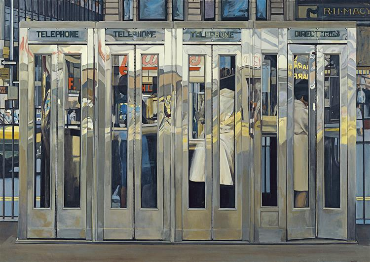 Telephone Booths, 1967 - Ричард Эстес