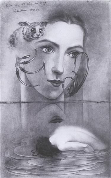 Dream of December 21, 1929 (Self Portrait) 1929, 1929 - Валентина Гюго