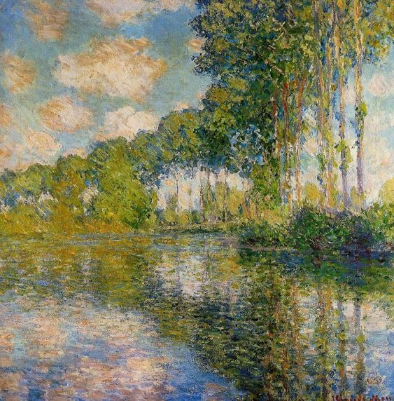 Poplars On The Banks Of The River Epte, 1891 - Claude Monet