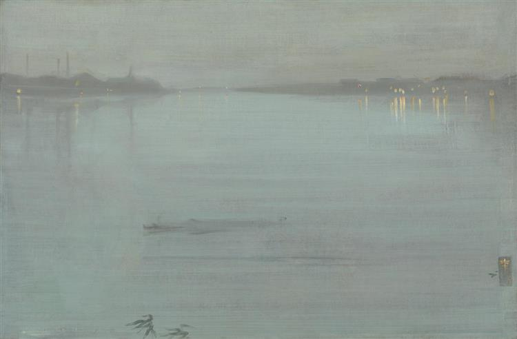 Nocturne in Blue and Silver: Cremorne Lights, 1872 - James McNeill Whistler