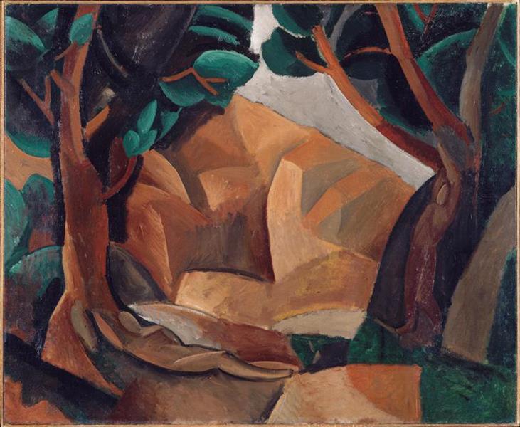 Paysage aux deux figures, 1908 - Pablo Picasso