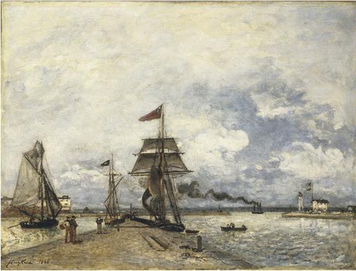 Entrée de port, Honfleur 1866, 1866 - Johan Jongkind