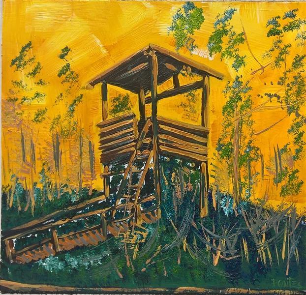 Torre de observação de aves , parque das Ribeiras De Fiães, 2020 - Paulo Fontes