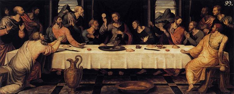 The Last Supper, c.1560 - Juan de Juanes
