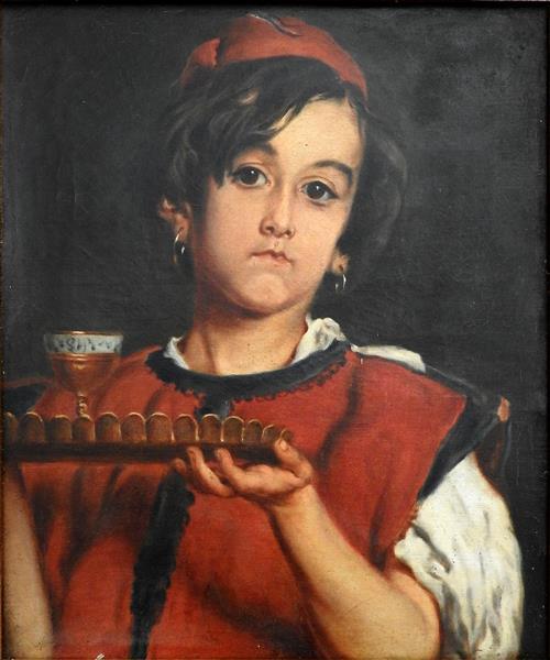 Le Petit Marocain Au Plateau, c.1870 - Alfred Dehodencq