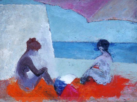 Donne Al Mare Sotto L'ombrellone, 1973 - Paolo Salvati