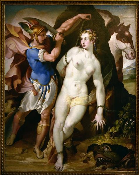 Perseus frees Andromeda, c.1572 - c.1575 - Bartolomeo Passarotti
