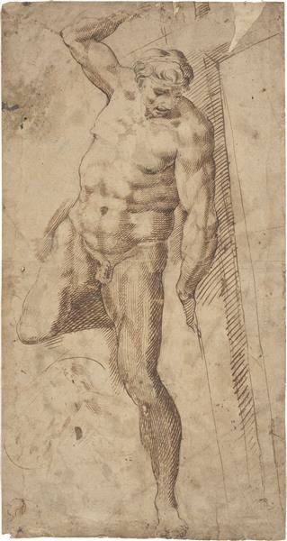 Copy of the Good Thief, From the Last Judgement of Michelangelo, c.1560 - c.1570 - Bartolomeo Passarotti