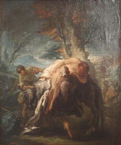 The Good Samaritian, 1723 - Шарль Андре Ван Лоо