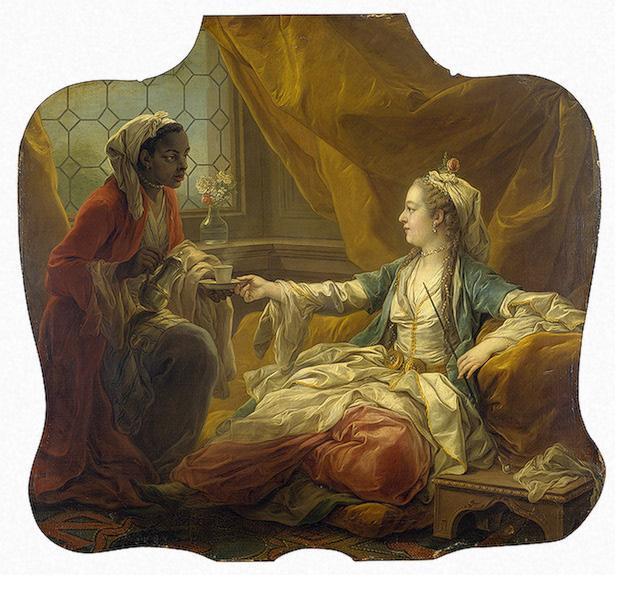 Sultan's Wife Drinking Coffee, 1755 - Шарль Андре Ван Лоо