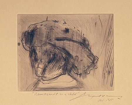 Rembrandt as a Child - José Luis Cuevas