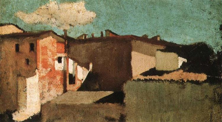 Roofs - Giuseppe Abbati