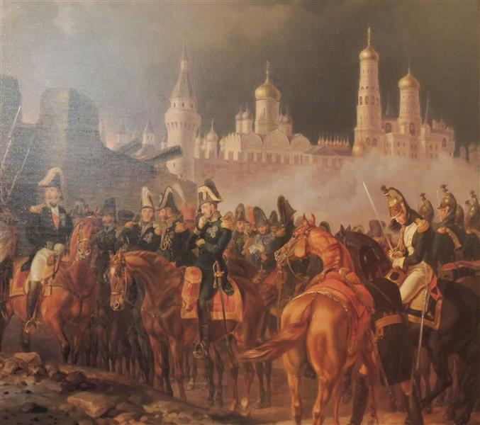 Napoleon In Burning Moscow, 1841 - Albrecht Adam