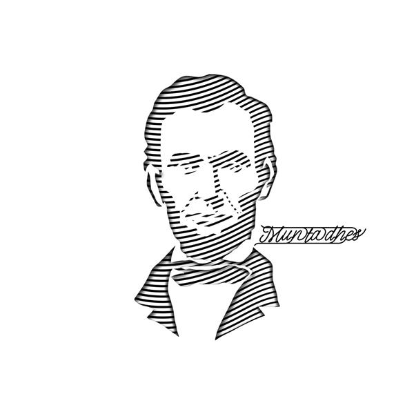 أبرهام لنكولن بفن الخط, 2019 - Muntadher Saleh