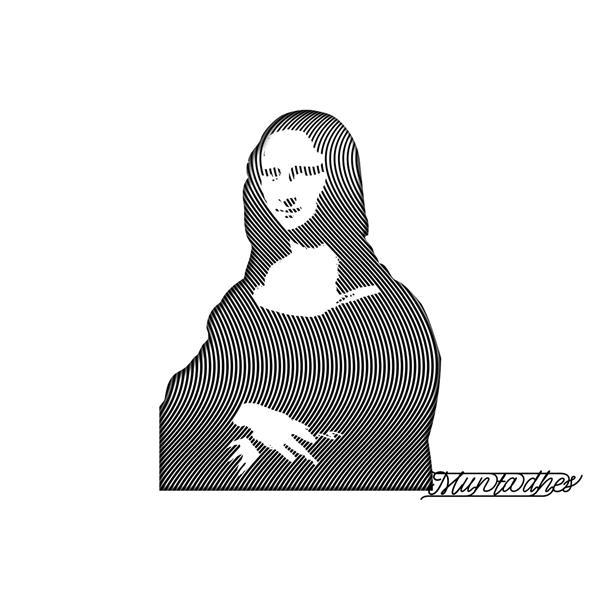 الموناليزا بفن الخط, 2018 - Muntadher Saleh